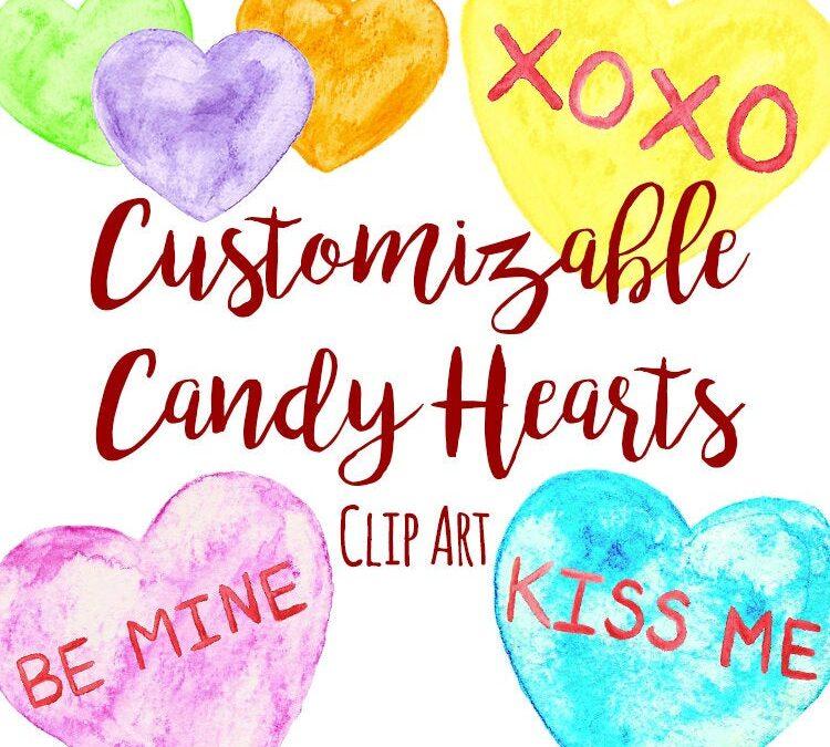 Conversation Hearts ~ Valentine's Day Clipart | TpT