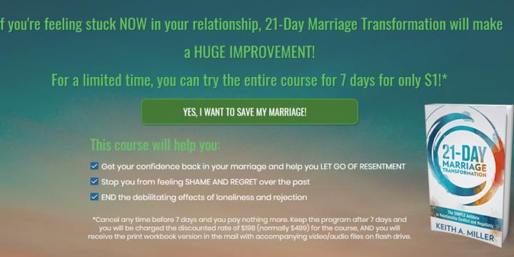 21-Day Marriage Transformation Review – marriagehelpadvisor.com a Scam?