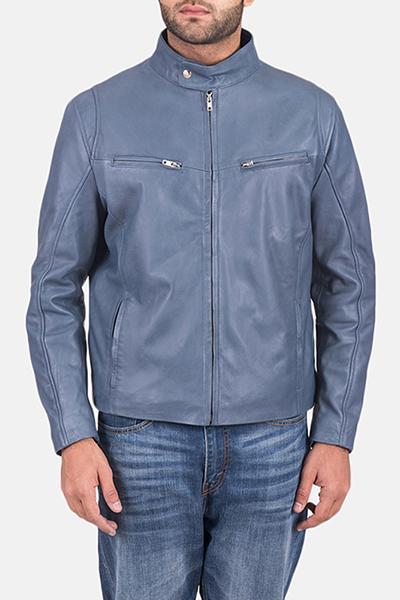 semi-aniline leather finish jacket.