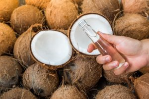 Coconut oil is hypoallergenic which means that it will not cause an allergic reaction and hence; will not spoil your leather.