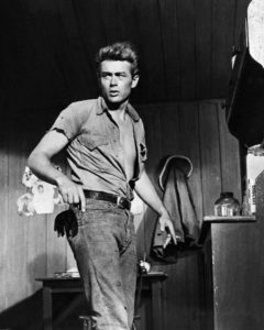 Rebel without a Cause star James Dean rocks the denim look more than perfectly.