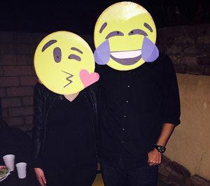 Emoji cardboard circles with emotions