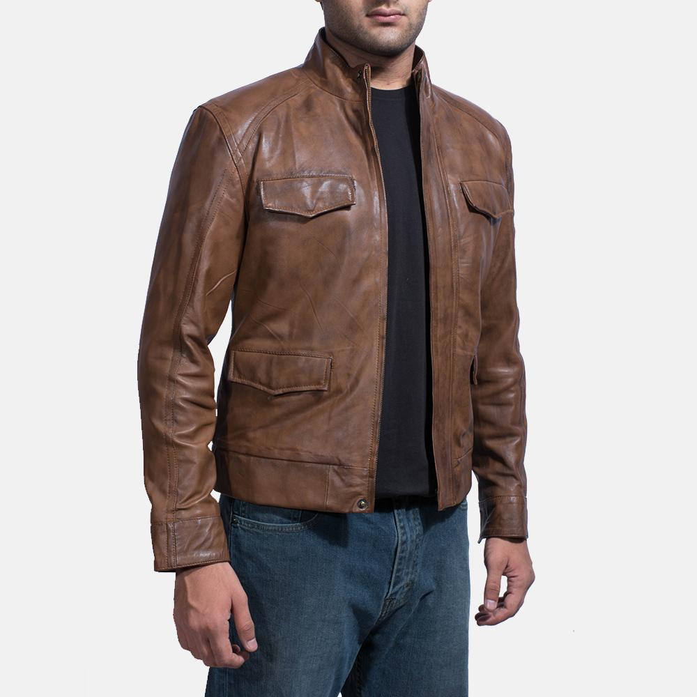 Mars Maroon Leather Coat