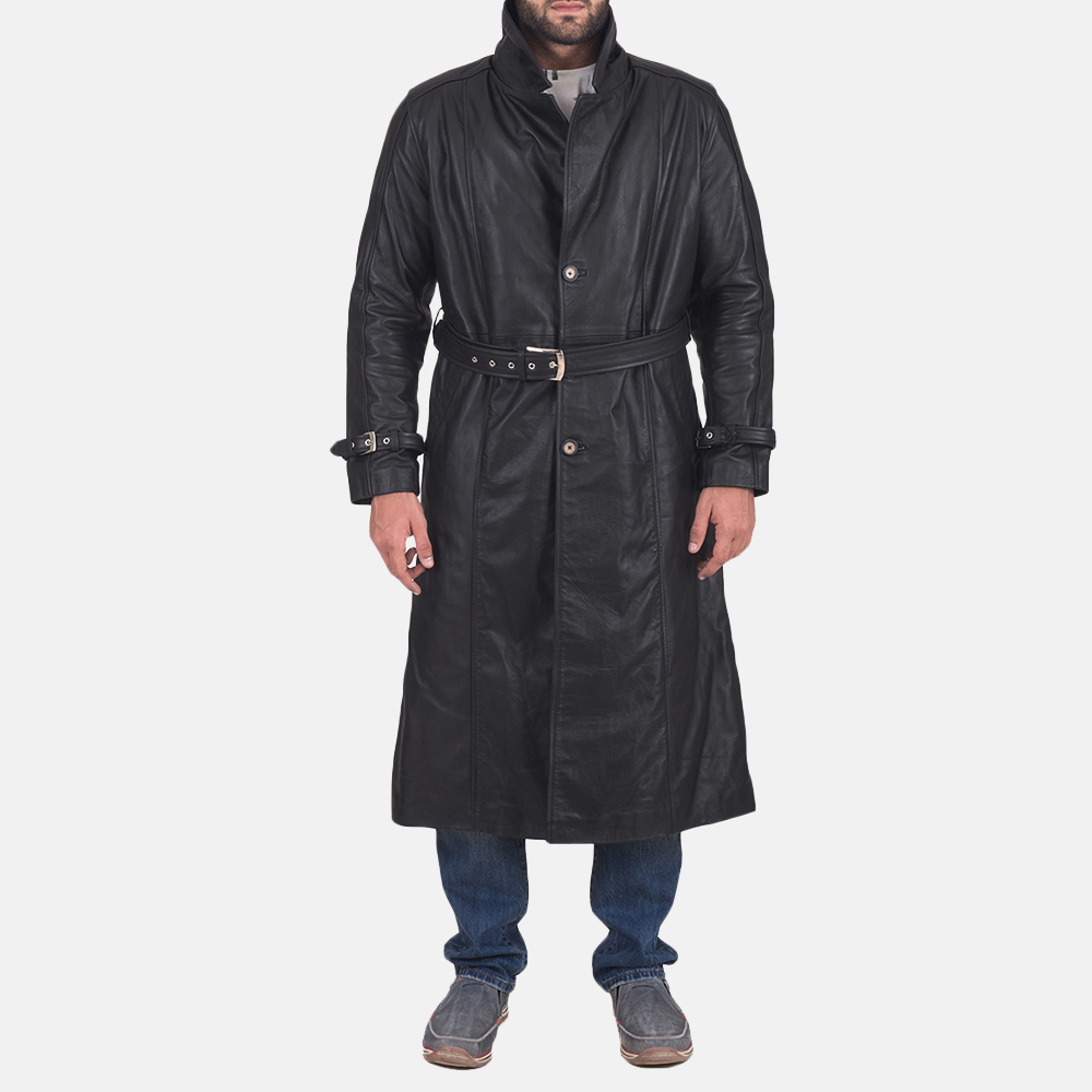 Daniel-Black-Leather-Trench-Coat