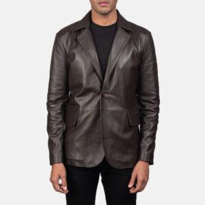 Daron Brown Leather Blazer