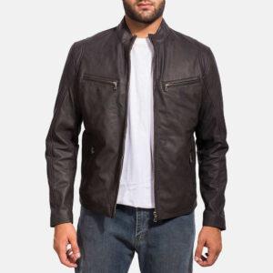 Ionic Black Leather Jacket