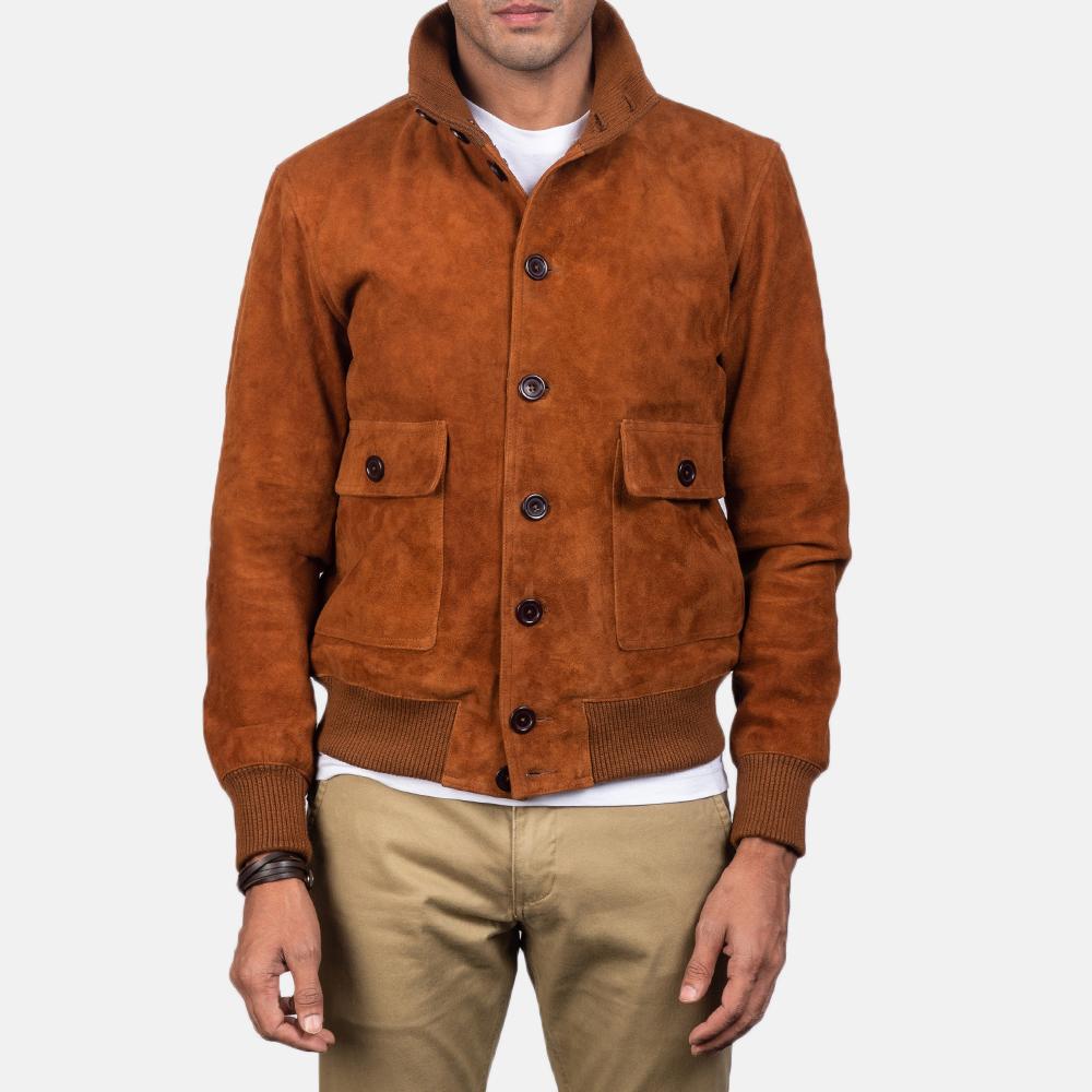 Brown-suede-jacket-men