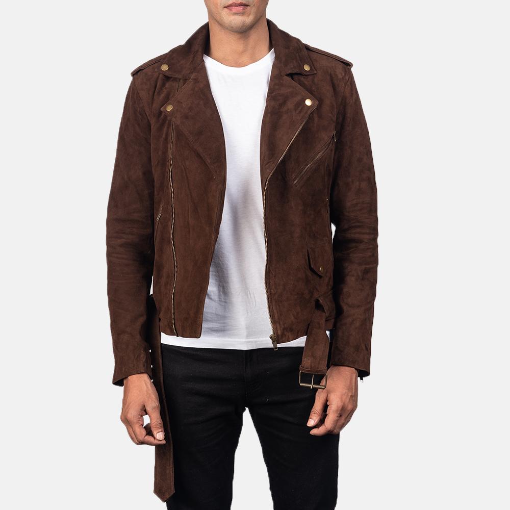 Brown-suede-biker-jacket