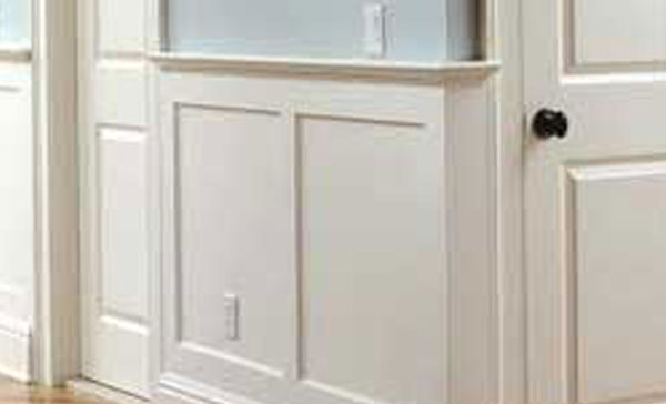 white trimming and molding, carpentry
