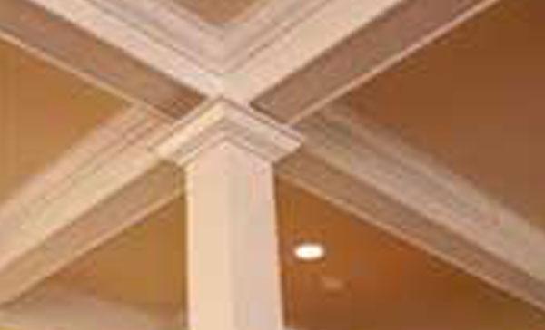 white pillar, carpentry
