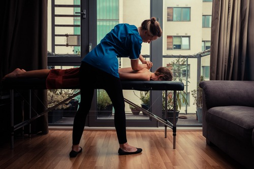 Lymphatic drainage in-home massage