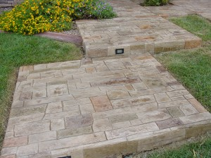 Stamped Concrete Header