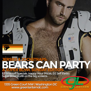 Bears Can Party Jersies and Jock Straps