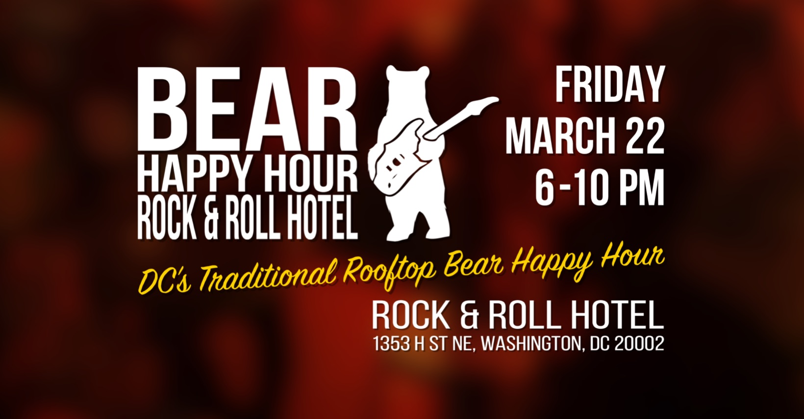 Bear Happy Hour at Rock & Roll Hotel March 22 2019