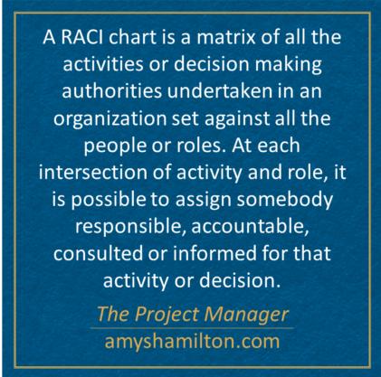 Why use both a RACI Matrix with a Swim Lane Diagram?