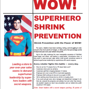 Superhero Shrink Prevention White Paper Graphic