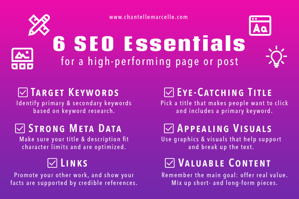 SEO Basics: 6 Essential SEO Items for a High Performing Page or Post