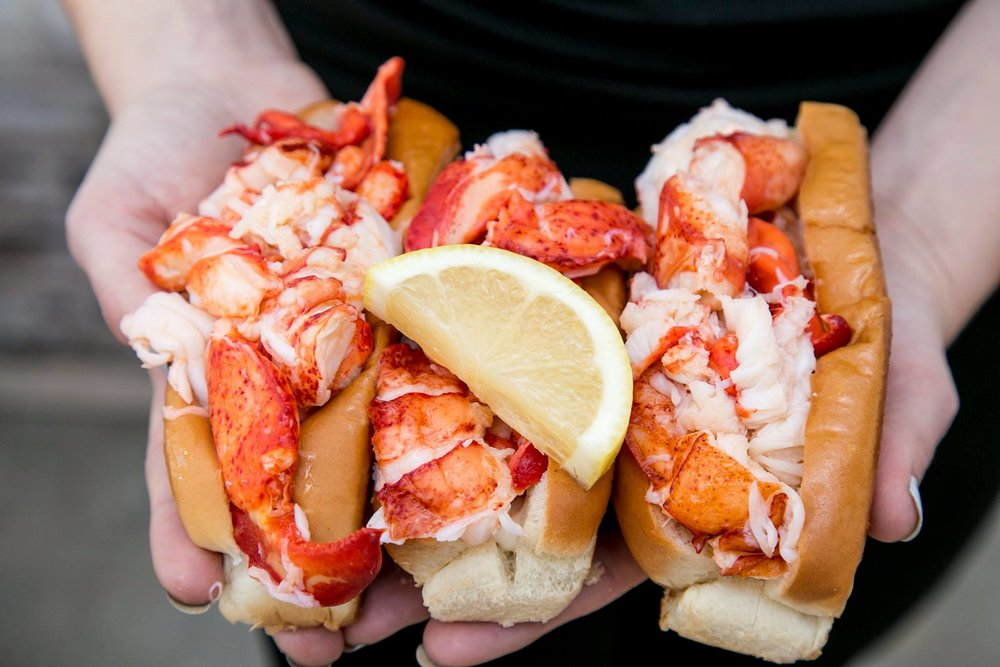 lobster sandwiches from Cousins Lobster Shack, a Shark Tank entrepreneur success story who pivoted their sales with a coronavirus marketing strategy in 2020