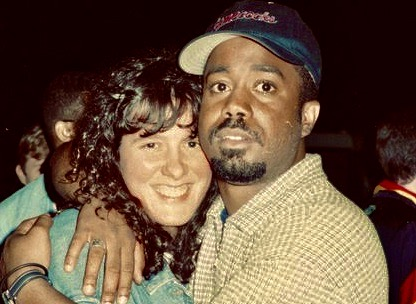 """Kim Kaiman and Darius Rucker (of Hootie and the Blowfish) on set for the MTV """"Unplugged"""" special at USC in Columbia, South Carolina. Kim worked to shape Darius Rucker's and Britney Spears' brand and marketing strategy."""