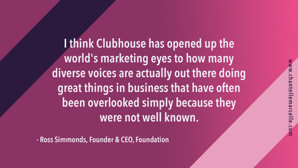 pull quote from interview with marketing executive Ross Simmonds