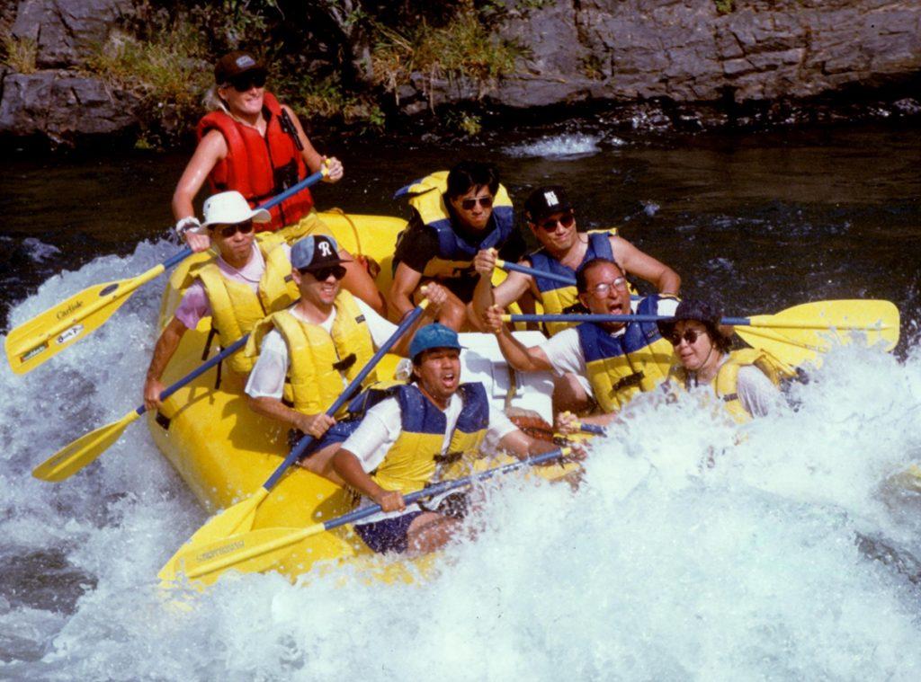AAJA members rafting.