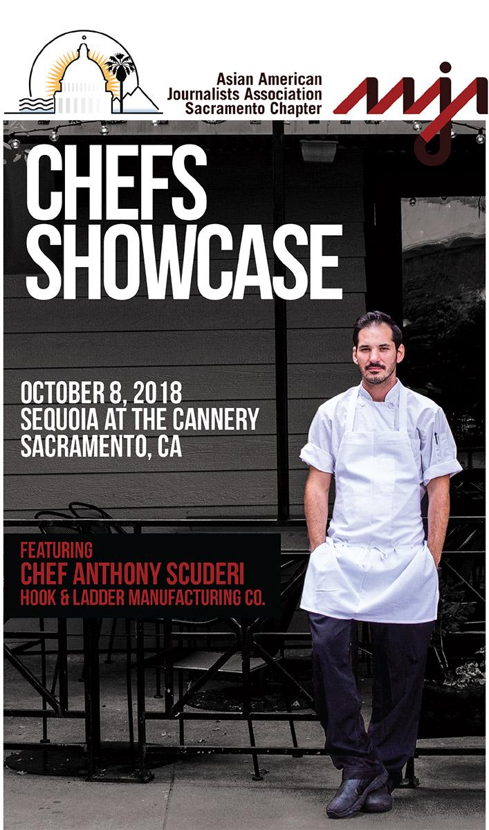 AAJA Sacramento Chefs Showcase 2018 program cover