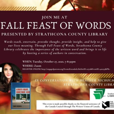 Join me for the Fall Feast of Words