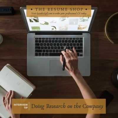 Interview Tip: Researching the Company