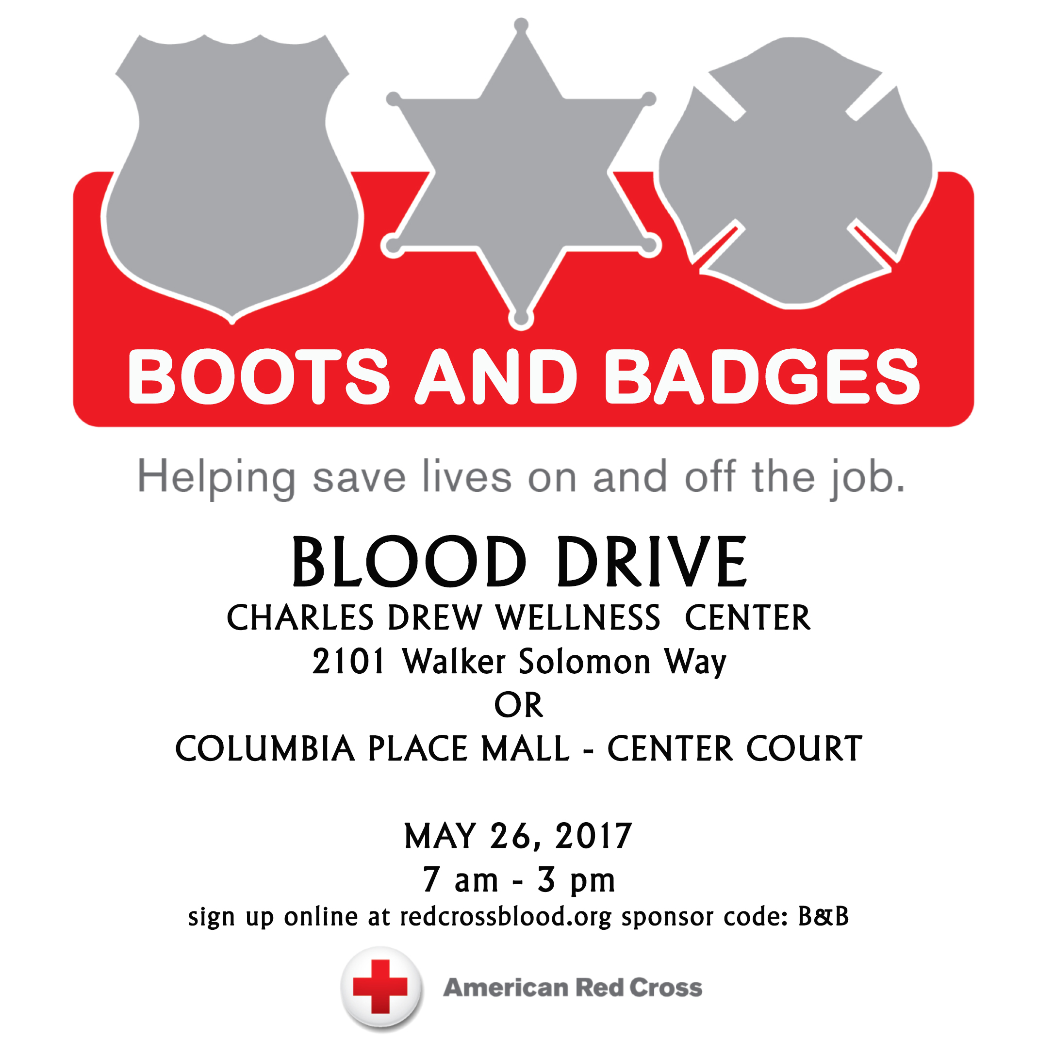 boots and badges flyer
