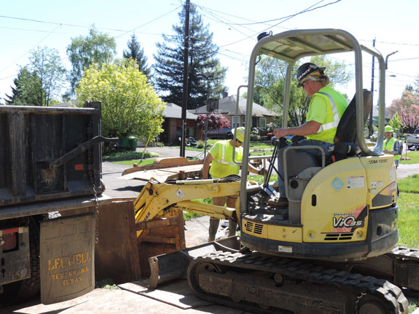 Storm and sewer line - Lovett Excavation Division