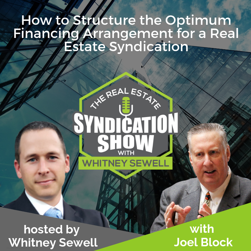 Real esate syndication and real estate investing with joel block