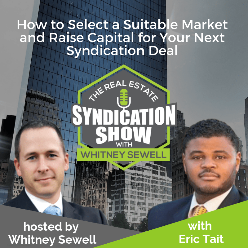 Real estate syndication and real estate dealmaking