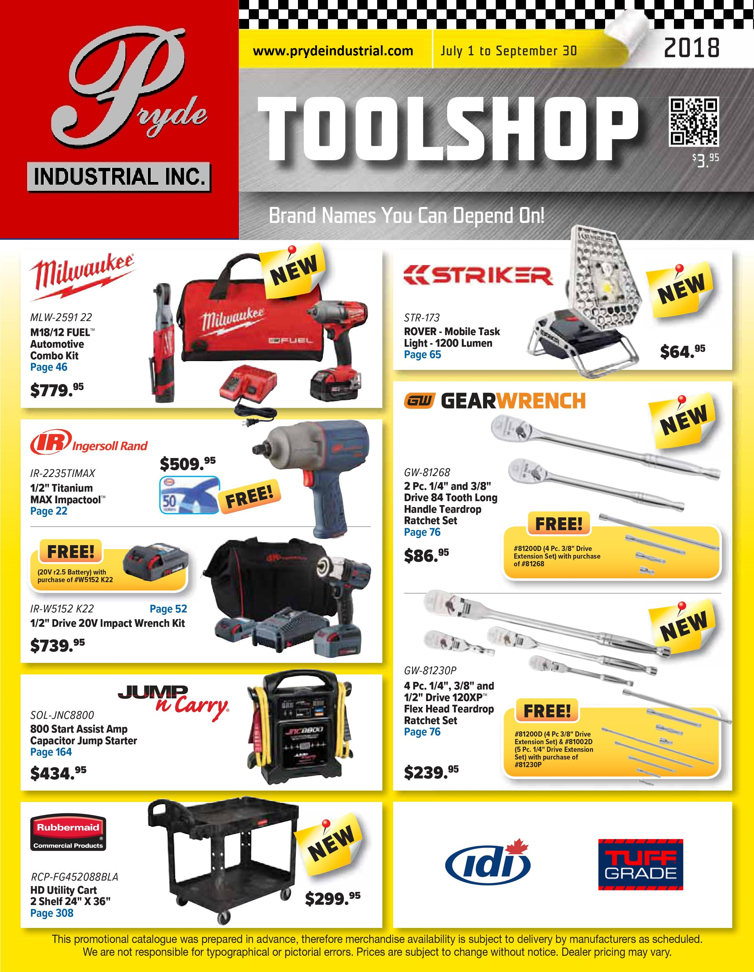 Pryde ToolShop Catalogue Cover