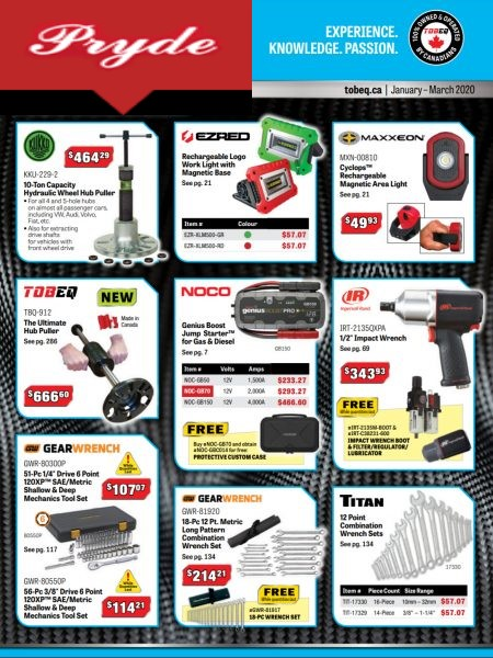 Pryde Tool Shop Catalogue Cover