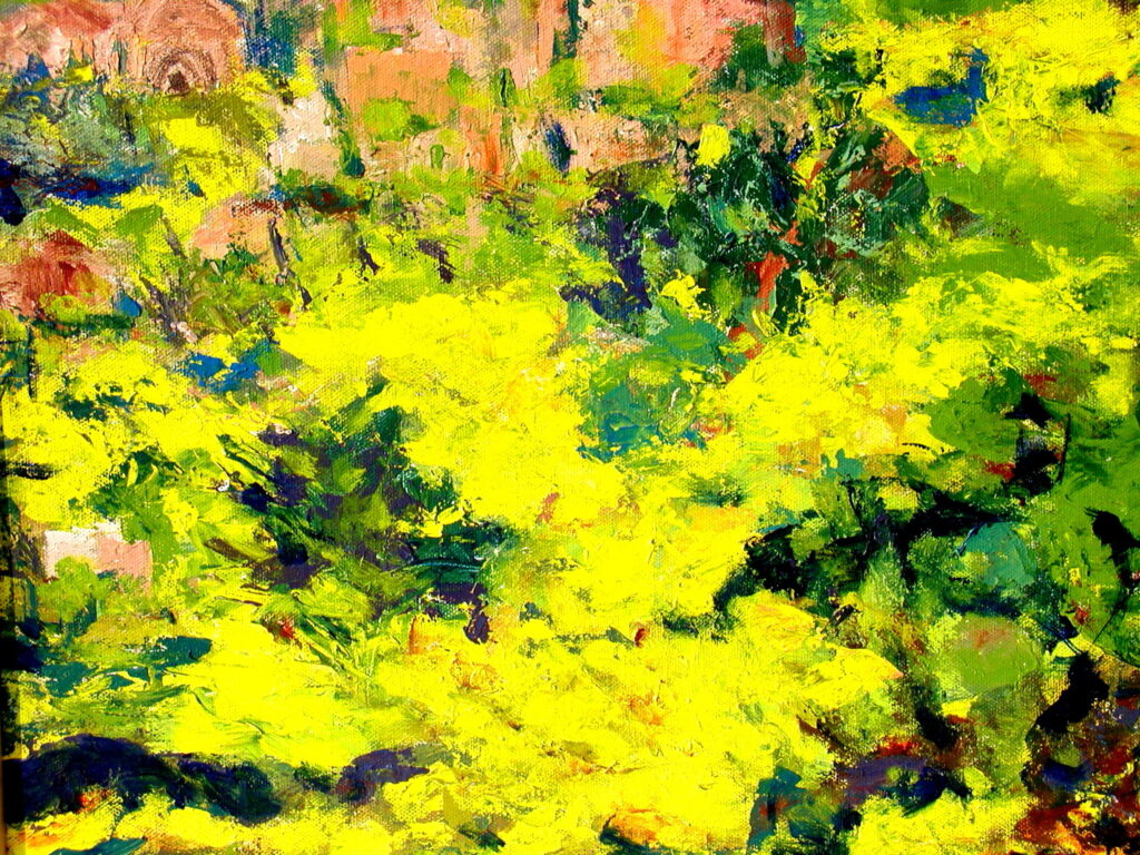 Springtime in Sicily, framed 18x24, acrylic on canvas, $325
