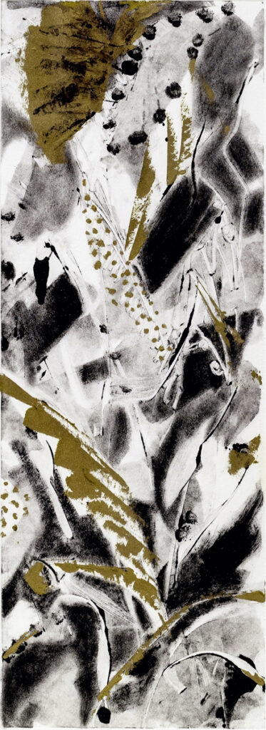 Junglescape, framed 10x8, monotype on paper, $110