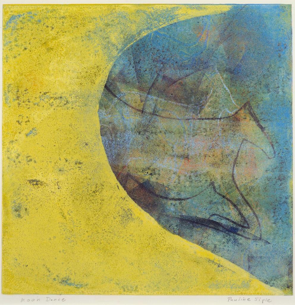 Moon Dancer, framed 18x26, monotype on paper,$145