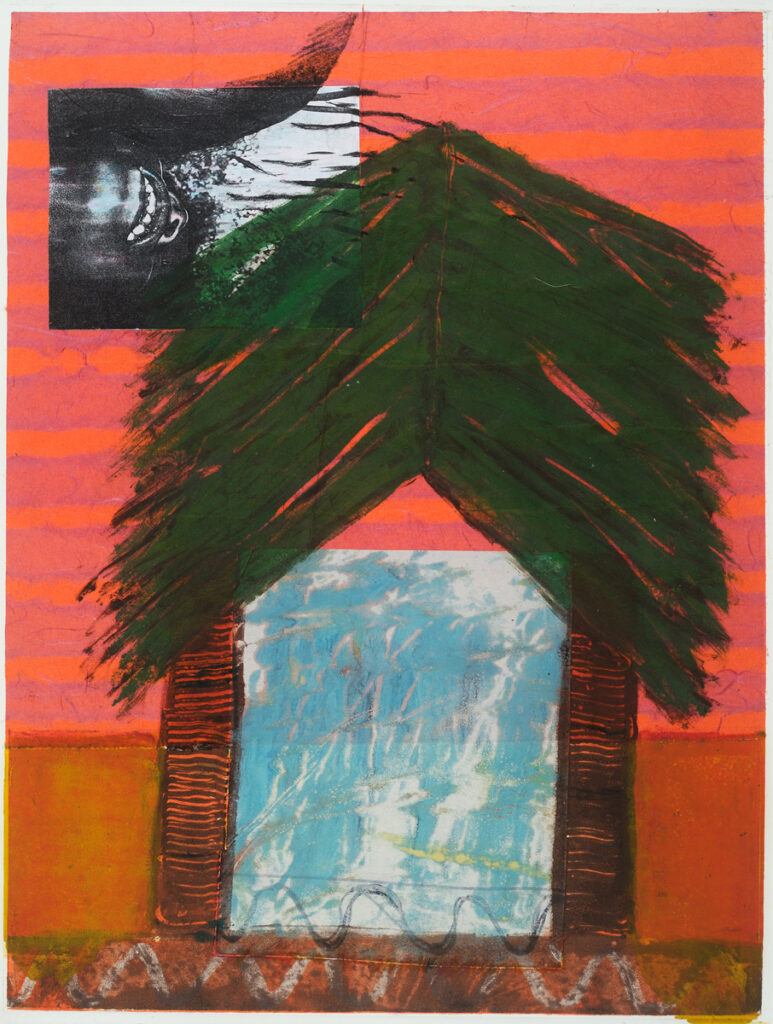 River House, 27x20 framed, monotype on paper, $145