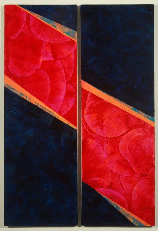 Unfurled, diptych 30x20, acrylic on canvas, $325