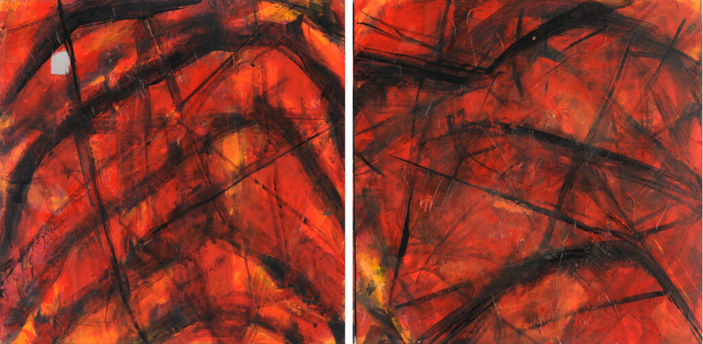 The Way Out, diptych, 12 x 24, acrylic on canvas, $375