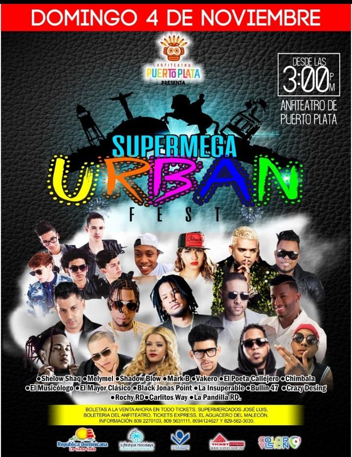 afiche Urban Fest puerto plata