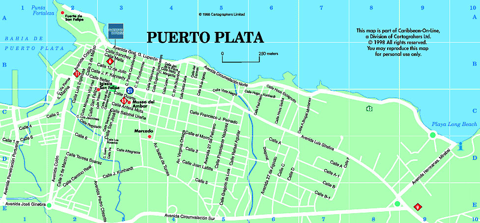 mapa puerto plata