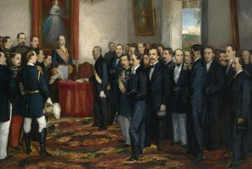 cropped Jura del gobernador y capitán general de Santo Domingo don Pedro Santana Museo del Prado
