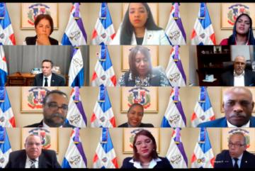 Jueces de Puerto Plata reunido de manera virtual con el presidente de la Suprema Corte