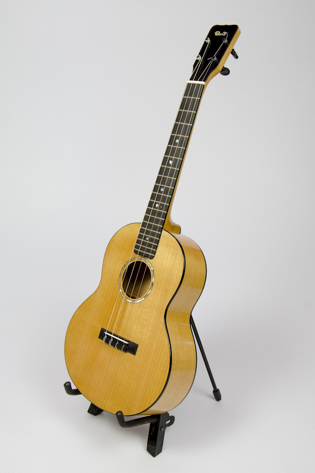 David Dart Cypress Baritone Ukulele, Style 2 (2015): Point Arena (CA) cypress top, sides, back & neck; ebony fingerboard, binding, bridge, & peghead overlay; abalone Dart logo, soundhole inlay, and fingerboard dots; sterling silver fingerboard side dots