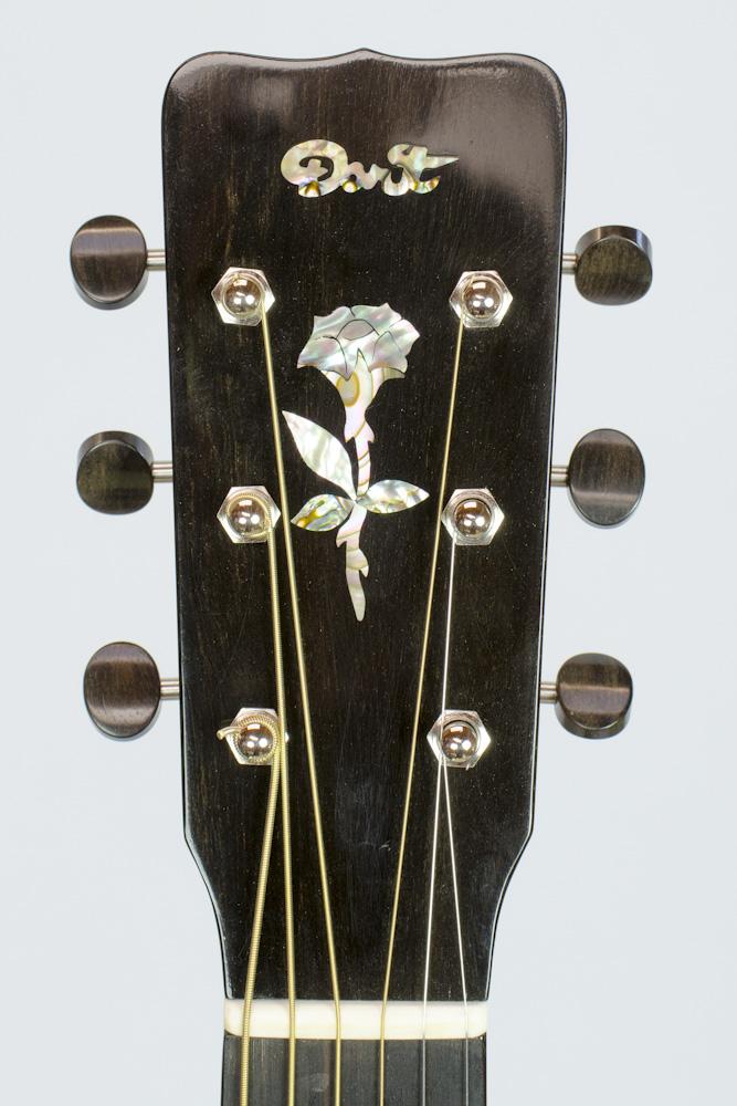David Dart Rosewood & Spruce 00-14 Rose peghead inlay (abalone & ebony)