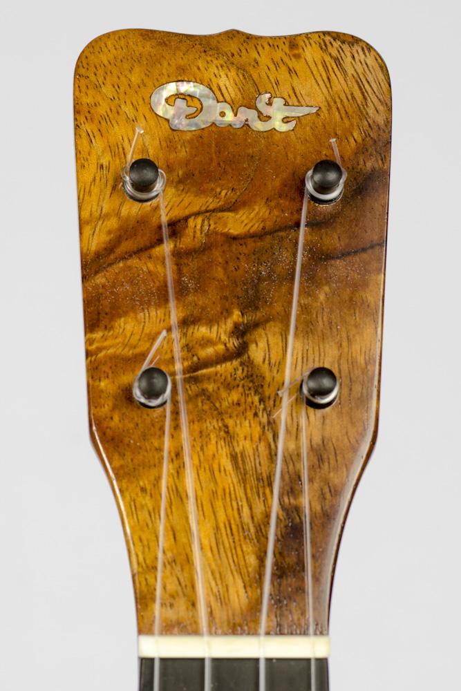David Dart Koa Concert Ukulele peghead logo inlay (abalone)