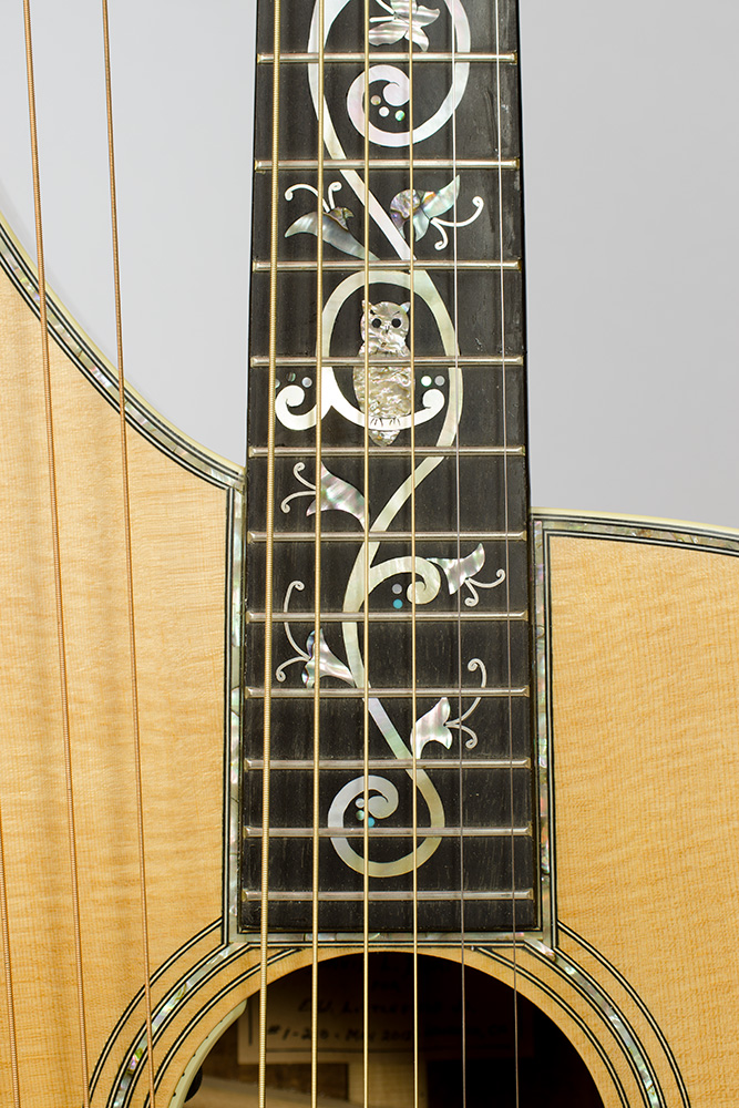 David Dart Harp Guitar Tree of Life fingerboard inlay (abalone & mother-of-pearl)