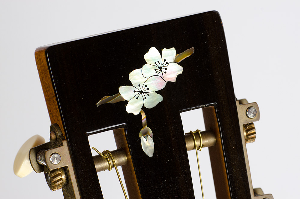 David Dart Cherry Blossom peghead inlay (abalone), from a Cherry & Spruce 00-12