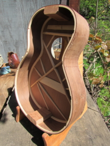 "April 2019 - redwood & rosewood ""0""-size parlor guitar"